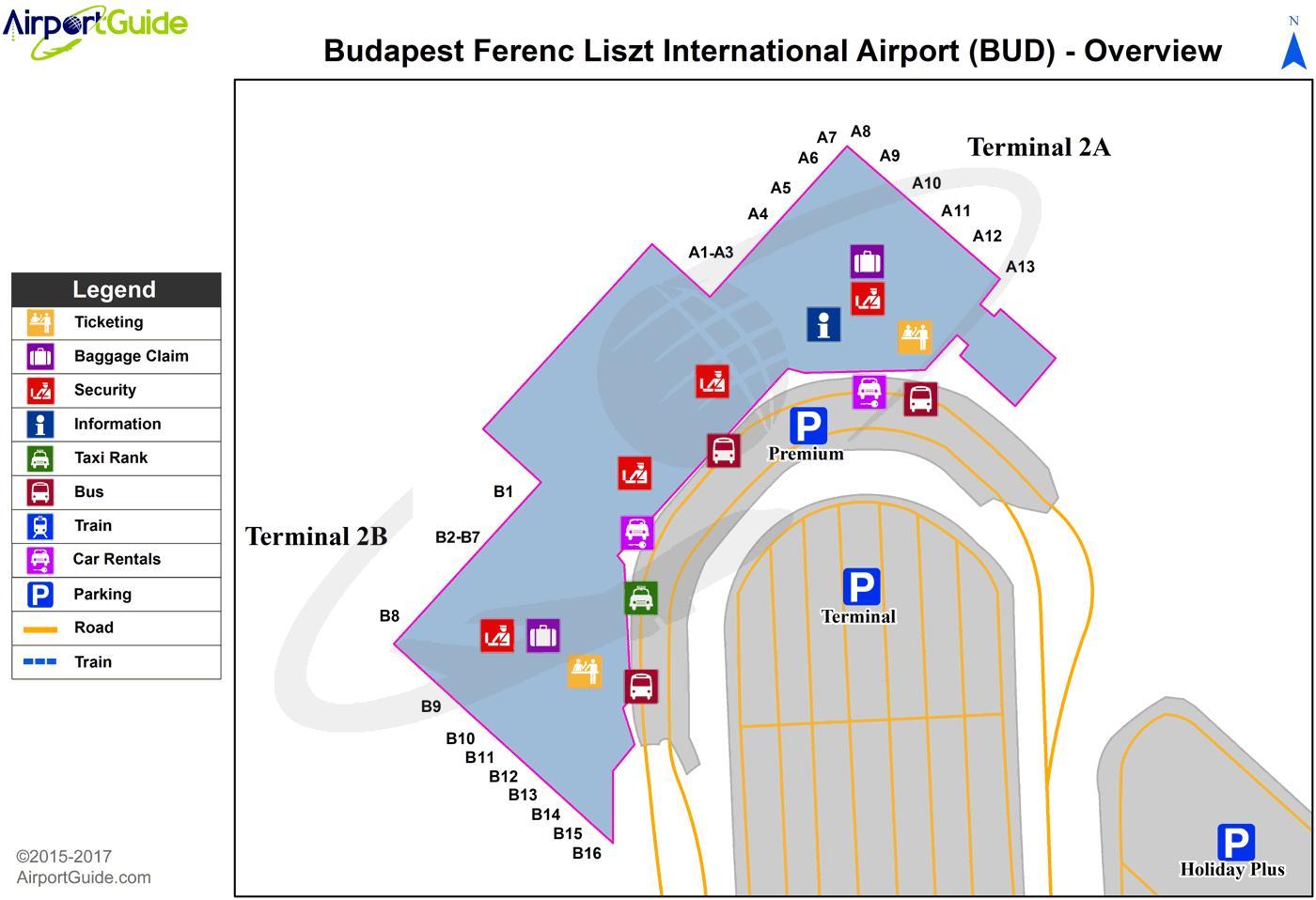 A Budapest Airport Terminal Terkep Budapest Airport Terkep